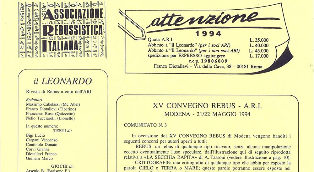 """Il Leonardo"" del 1994"